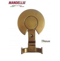 APPENDIABITI A MURO MANDELLI MADE IN ITALY  - SERIE CLASSICA - OTTONE BRONZATO
