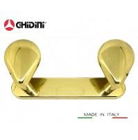 APPENDIABITI PORTABITO A MURO GHIDINI CADDY in Ottone Made in Italy Appendiabito