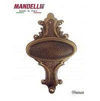 APPENDIABITO A MURO MANDELLI MADE IN ITALY  - STILE CLASSICO - OTTONE BRONZATO