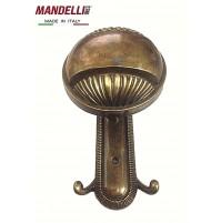 APPENDIABITO A PARETE MANDELLI MADE IN ITALY  - IN STILE VINTAGE - BRONZATO