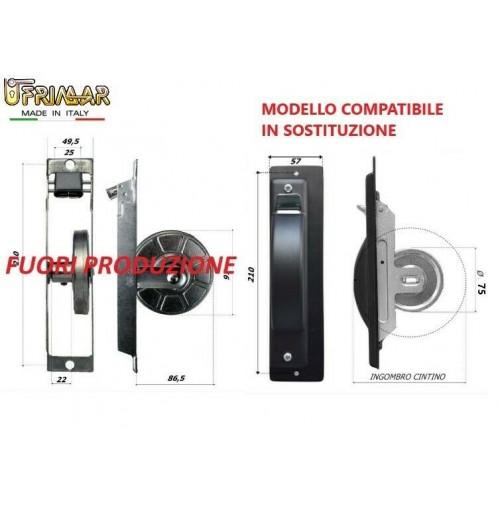 AVVOLGITORE PER TAPPARELLE SEMINCASSO LATERALE Int.mm.210 COMPATIBILE TIPO SECCO