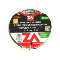 CAVO ACCIAIO PER ARGANELLO Diametro mm.1,8 Metri 6 FUNE ACCIAIO PER AVVOLGIBILE