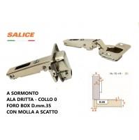 CERNIERA SALICE C2ABP99 FORO mm.35 A SORMONTO COLLO 0 CON MOLLA C2A6A99 A SCATTO