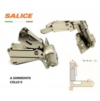 CERNIERA SALICE C2AFA99 Angolo 165° COLLO MM.0 A SORMONTO ANTA CUCINA MOBILE