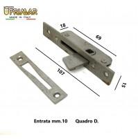 CREMONESE CHIUSURA PER FINESTRE PIASTRA mm.107x15 QUADRO mm.7 MARTELLINA INCASSO