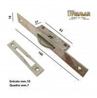 CREMONESE CHIUSURA PER FINESTRE PIASTRA mm.160x18 QUADRO mm.7 MARTELLINA INCASSO