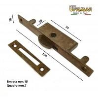 CREMONESE CHIUSURA PER FINESTRE PIASTRA mm.170x18 QUADRO mm.7 MARTELLINA INCASSO