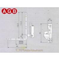 Cerniera Angolare Destra AGB cod. A200400105 Ricambio finestra anta ribalta DX