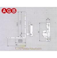 Cerniera Angolare Destra AGB cod. A400400105 Ricambio finestra anta ribalta DX
