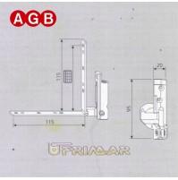 Cerniera Angolare Sinistra AGB cod. A200400102 Ricambio finestra anta ribalta SX