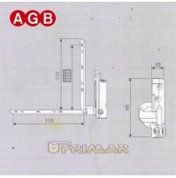 Cerniera Angolare Sinistra AGB cod. A400400102 Ricambio finestra anta ribalta SX