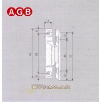 Cerniera Centrale ad applicare AGB A200280101 ricambio per finestre legno 410100