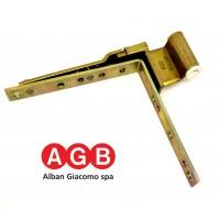 Cerniera angolare AGB anta ribalta A200380801 per infissi PVC 520 11X20