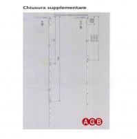 Chiusura Supplementare Passante AGB A200140003 cm.125/180 GR3 per anta ribalta