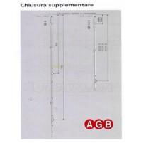Chiusura Supplementare Ridotta AGB A200130002 cm.95/125 GR2 per anta ribalta