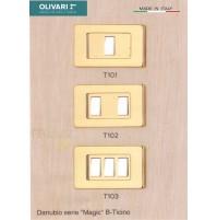 Coprinterruttore Olivari T101 Danubio Ottone Lucido 1 Tasto
