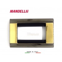 Coprinterruttore Placca Mandelli art.131 Gold Black  6 posti Living Bticino