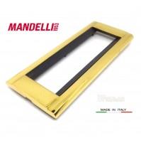 Coprinterruttore Placca Mandelli art.131 Oro Gold  6 posti Living Bticino