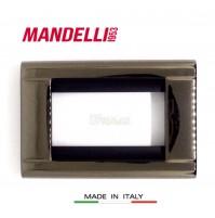 Coprinterruttore Placca Mandelli art.131 nero Mercurio 3 posti Living Bticino