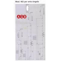 Cremonese anta singola AGB A004024010 mod.402 cm.220/240 GR10 Entrata mm.40