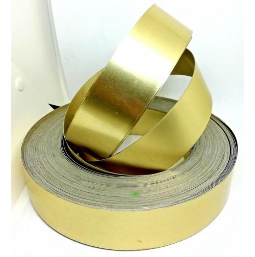 Fascia in alluminio liscio H. mm.40 x L.mm.1000 Dorato profilo in alluminio