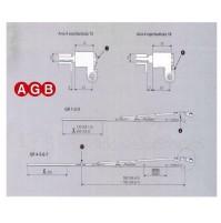 Forbice AGB braccio anta ribalta A401110103 cm.60/80 GR3 per infissi legno