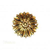 Fregio in oro francese per mobili Rosone diam. mm.43 decorazione per porte