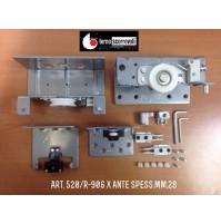 GUARNITURA COMPLETA 520/R-906  TERNO PER ANTA SCORREVOLE ESTERNA SP.MAX mm.28