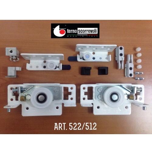 GUARNITURA COMPLETA 522/512 TERNO PER ANTA SCORREVOLE INTERNA A POSIZIONE REG.