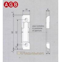 Incontro per nottolino AGB cod.A200170102 Aria mm.4 ricambio per anta ribalta