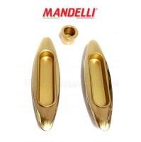 KIT MANIGLIE INCASSO PER PORTE SCORREVOLI MANDELLI  CLIP 368  (03L) ORO LUCIDO