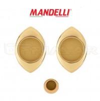 KIT MANIGLIE INCASSO PER PORTE SCORREVOLI MANDELLI  CLIP 368T (03L) ORO LUCIDO