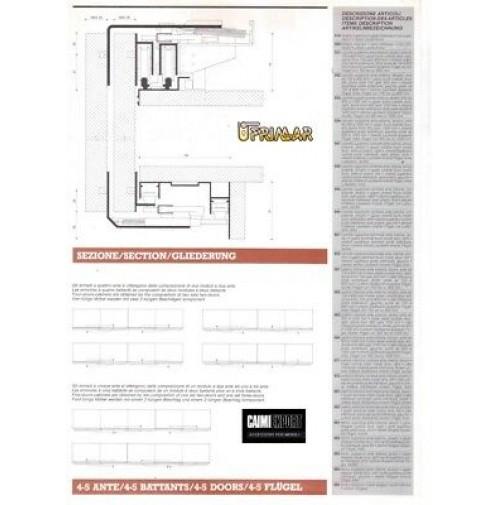 Guide Ante Scorrevoli Complanari.Kit Scorrevole Per Armadi Complanari Magic Caimi Export 2 Ante Cm