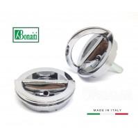 Kit maniglie incasso Bonaiti MTA doppio anello girevole Cromo Lucido D.mm.48