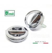 Kit maniglie incasso Bonaiti MTA doppio anello girevole Cromo Satinato D.mm.48