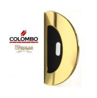 MANIGLIA INCASSO PER PORTE SCORREVOLI COLOMBO LC111 CF OTTONE L. CON FORO CHIAVE