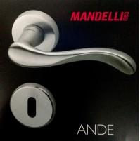 MANIGLIA PER PORTA MANDELLI serie ANDE 451 CROMO SATINATO per porte interne