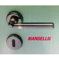 MANIGLIA PER PORTA MANDELLI serie GEO M81 GOLD BLACK per porte interne in legno
