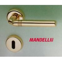 MANIGLIA PER PORTA MANDELLI serie GEO M81 ORO LUCIDO per porte interne in legno