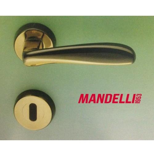MANIGLIA PER PORTA MANDELLI serie SINTESI M41 GOLD/BLACK per porte interne