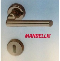 MANIGLIA PER PORTA MANDELLI serie SKATTO 471 nero MERCURIO per porte interne