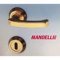 MANIGLIA PER PORTA MANDELLI serie VELA 471 GOLD/BLACK per porte interne in legno