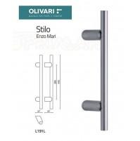 MANIGLIONE OLIVARI STILO L190L INCLINATO L.mm.445 CROMO OPACO design ENZO MARI