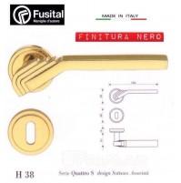 Maniglia Fusital H38 R8 Nero lucido design Sottas Associati maniglia per porta