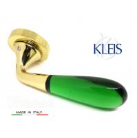 Maniglia KLEIS GEMMA art. 0021001 Ottone + Vetro verde maniglie per porte porte