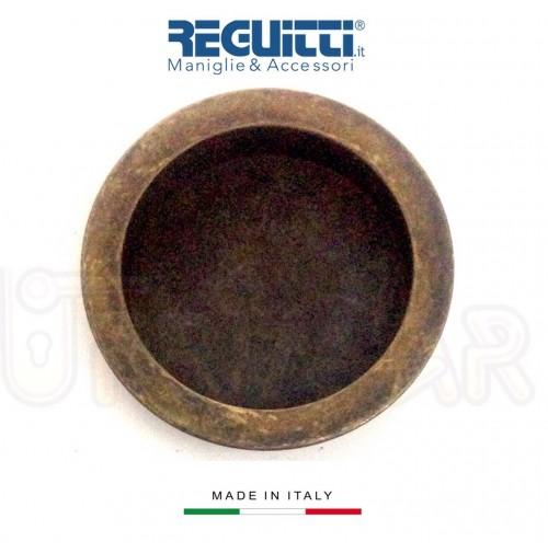 Maniglia incasso porte scorrevoli Reguitti 524 PI Ottone Antico senzaforo chiave