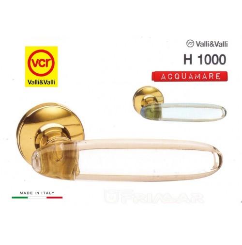 Maniglia porta Valli e Valli Angelica H1000 R8 Oro + Acquamare Valli & Colombo