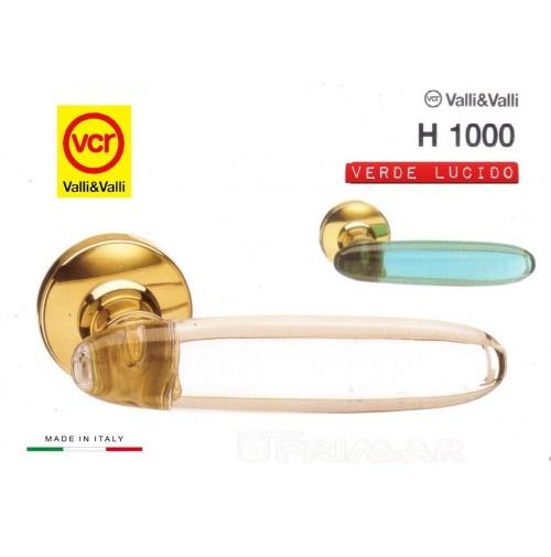 Maniglia porta Valli e Valli Angelica H1000 R8 Oro + Verde Valli & Colombo VCR