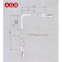 Movimento angolare AGB cod.A200090008 GR8 mm.120x180 ricambio per anta ribalta