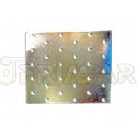 PIASTRA IN METALLO RETTANGOLARE DRITTA mm.120x100 PER TRAVI E COPERTURE IN LEGNO